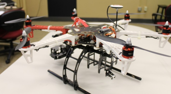 A DJI Hexacopter developed by the University of Missouri Drone Journalism Programme